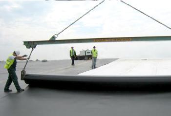 HDPE Мембрана за изграждане на сметища и езера